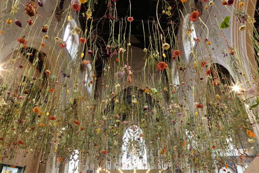 flower art, flowers, floral art, installation art