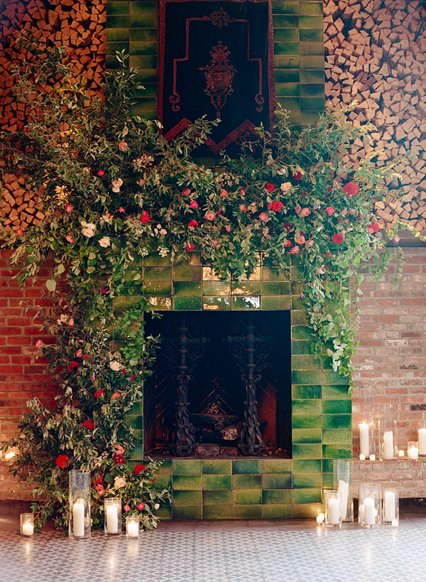 bowery hotel, nyc wedding, bowery, lower east side, bride, floral installation
