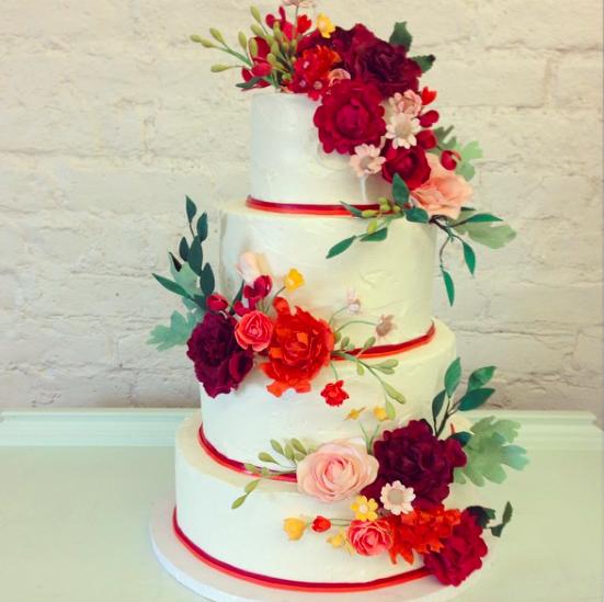 nine cakes, brooklyn, cake maker, wedding cake, dessert, cake, flowers on cake