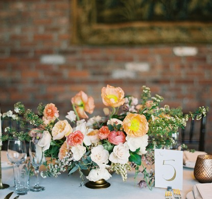 wedding rings, bowery hotel, manhattan wedding, judy pak photography, bride and groom, spring flowers, taper candles, tablescape, spring wedding, poppies, low lush arrangement