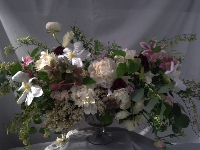 poppies & posies floral arrnagement