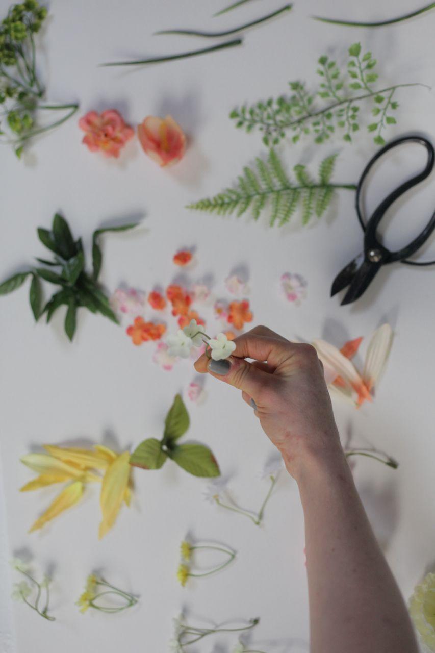 mandala, flower, silk flowers, spring