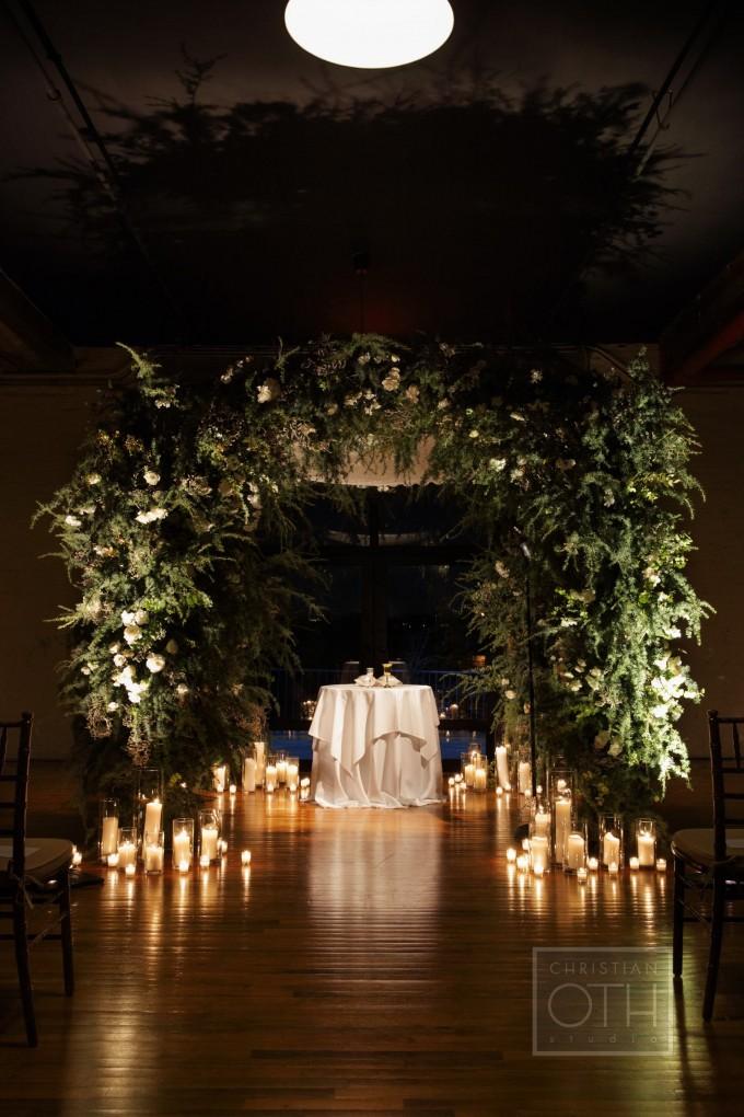 Wedding Brooklyn Liberty Warehouse Flowers
