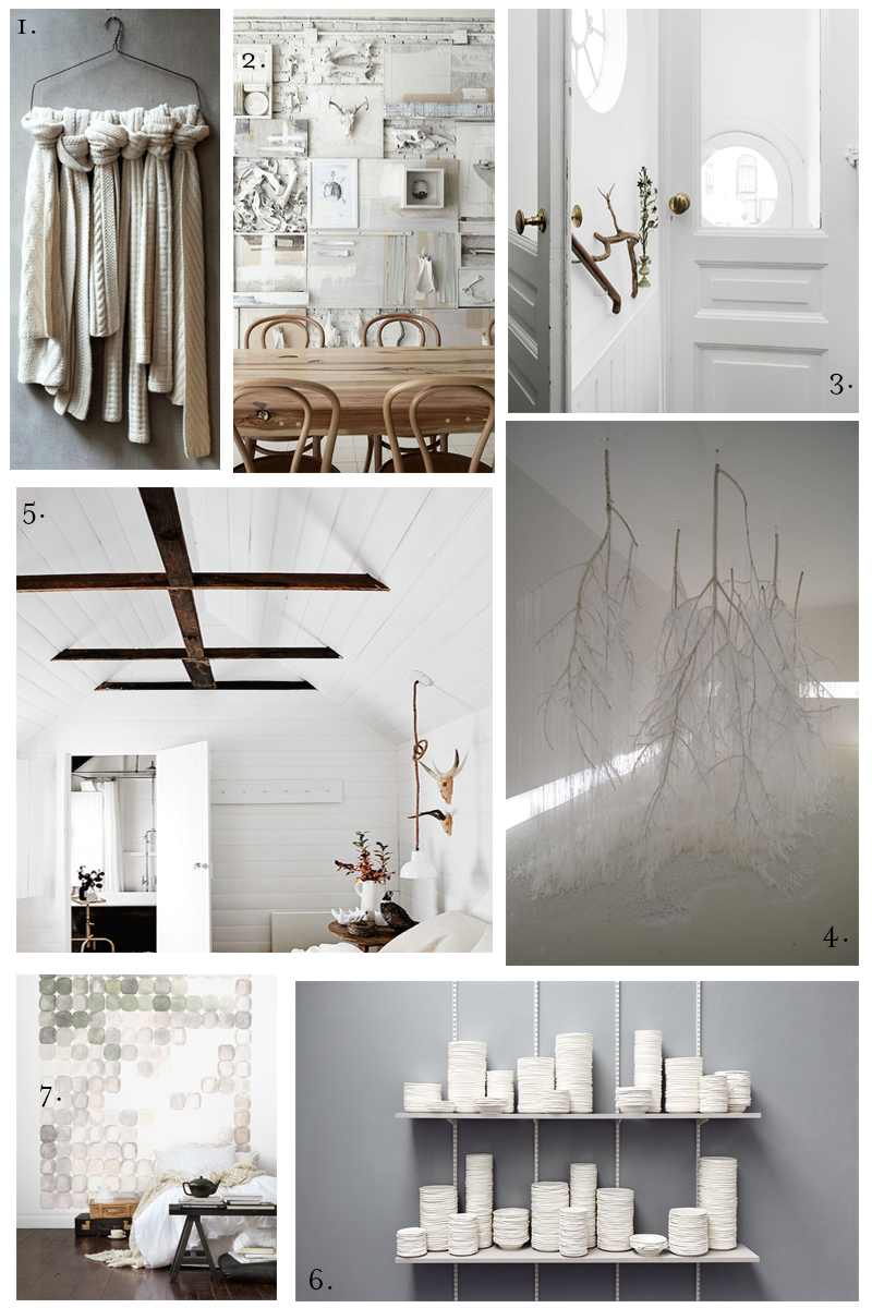 winter white mood board