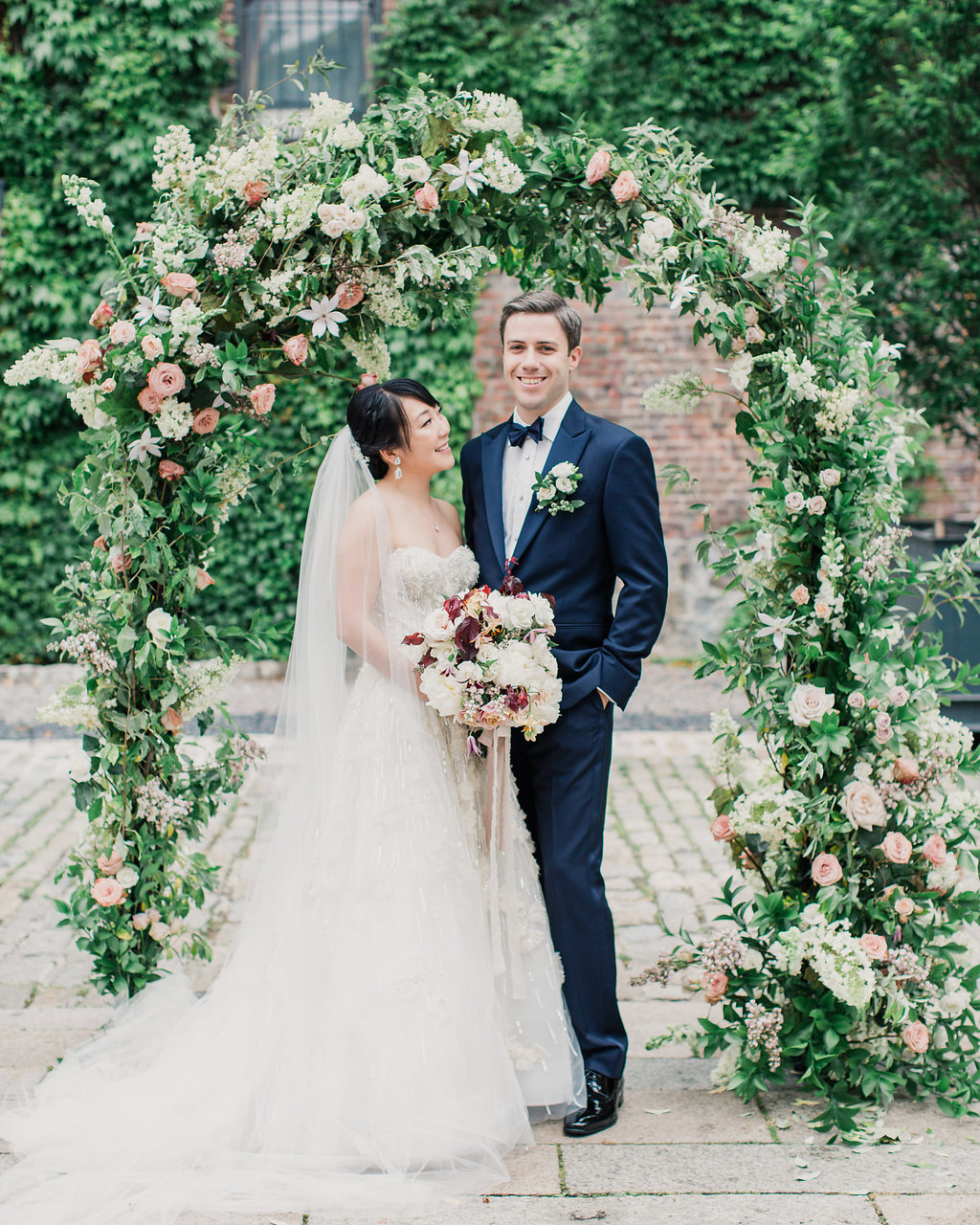 floral wedding arch brooklyn